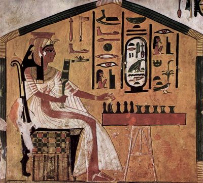 Senet játék hieroglifán